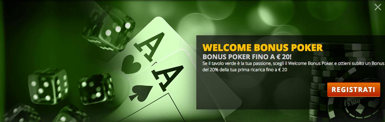 codice promozionale intralot bonus benvenuto poker