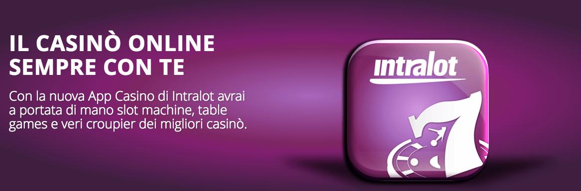 codice promozionale intralot mobile app casino