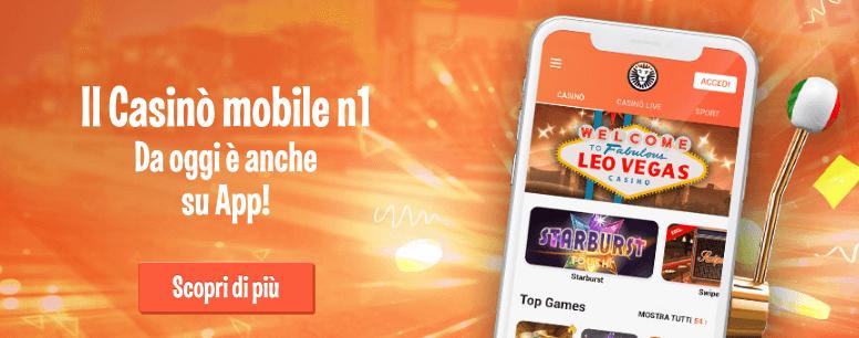 leovegas scommesse mobile app casino
