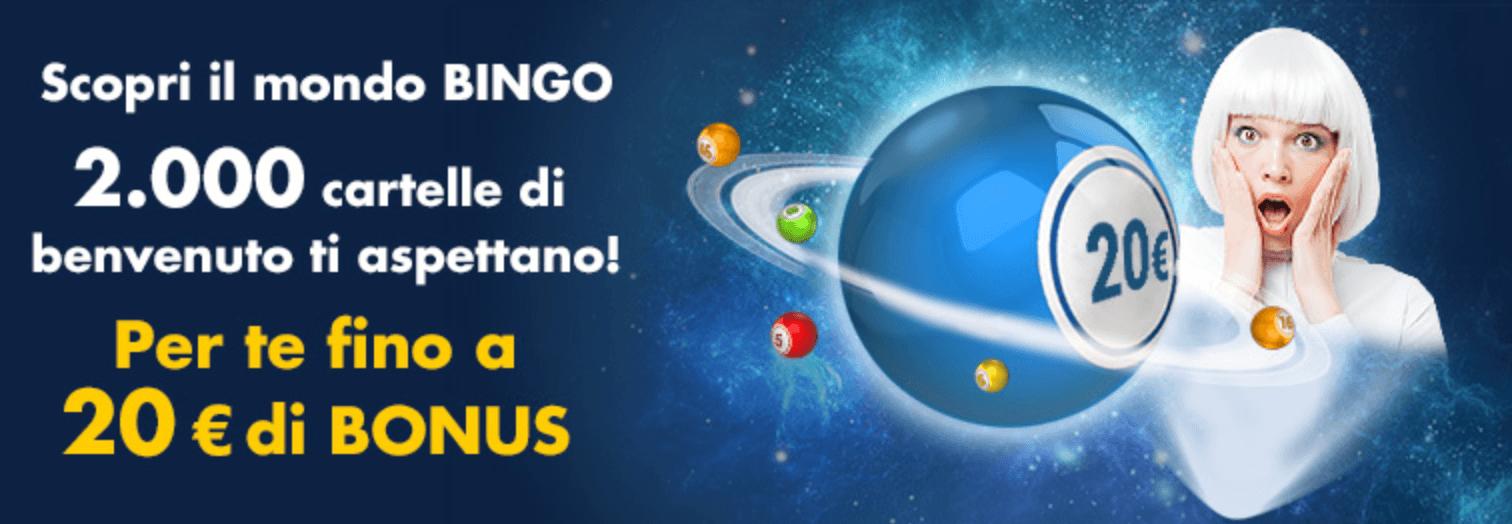 codice promozionale lottomatica bonus benvenuto bingo